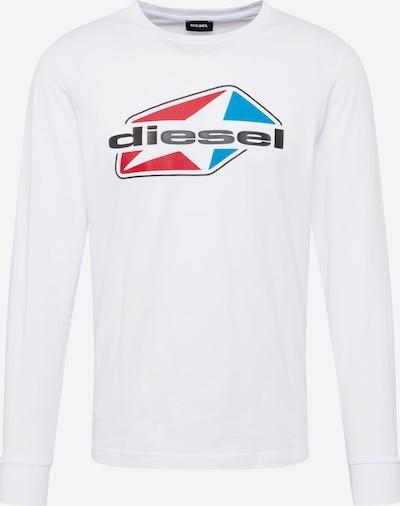 DIESEL Majica 'T-DIEGOS' | modra / rdeča / črna / off-bela barva, Prikaz izdelka