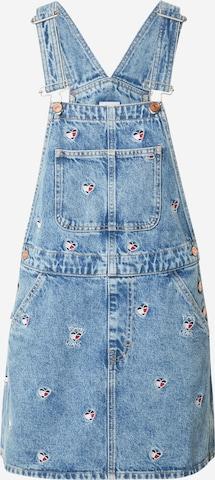 Salopetă rochie scurtă de la Tommy Jeans pe albastru
