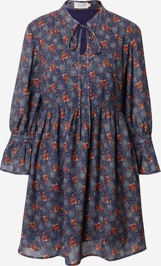 Molly BRACKEN Kleid in dunkelblau / dunkelorange / pastellrot, Produktansicht