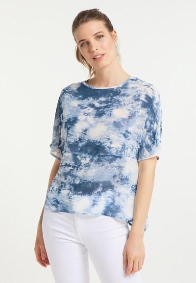 Bluză usha BLUE LABEL pe albastru / alb, Vizualizare model