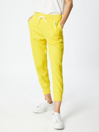POLO RALPH LAUREN Sweathose in blau / gelb, Modelansicht