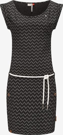Ragwear Kleid 'Tag Zig Zag' in schwarz / weiß, Produktansicht
