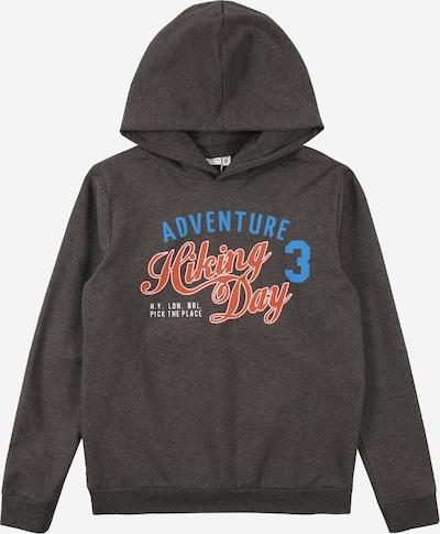 NAME IT Sweatshirt  'VUGO' in blau / braunmeliert / rot / weiß, Produktansicht