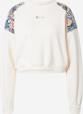 ROXY Sportsweatshirt 'MARINE BLOOM' in Weiß