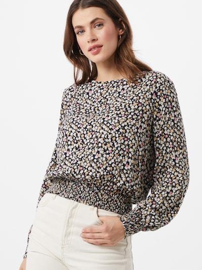 Bluză 'Reba' PIECES pe maro / galben / roz deschis / negru / alb, Vizualizare model