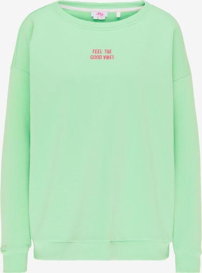MYMO Sweatshirt in mint / pink, Produktansicht