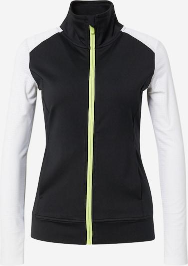 ESPRIT SPORT Sportief sweatvest 'Cardi Edry' in de kleur Kiwi / Zwart / Wit, Productweergave