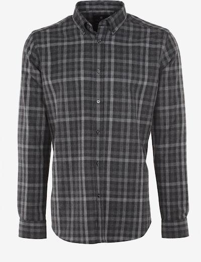 Jimmy Sanders Hemd Fernando mit Karo-Muster in grau, Produktansicht