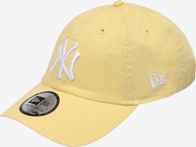 NEW ERA Casquette en jaune clair / blanc, Vue avec produit
