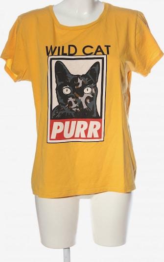 ONE MORE STORY Print-Shirt in XL in hellorange / schwarz / wollweiß, Produktansicht