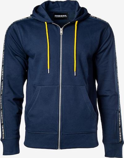 DIESEL Sweatjacke in nachtblau / weiß, Produktansicht