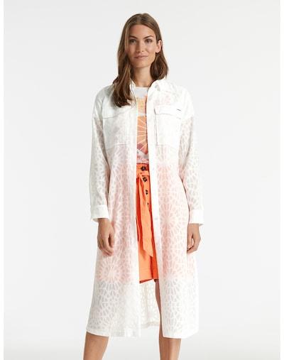 TAIFUN Tunika Longbluse mit Bindegürtel in weiß, Modelansicht