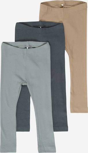 NAME IT Leggings 'RICHARD' in hellbeige / dunkelblau / mint, Produktansicht