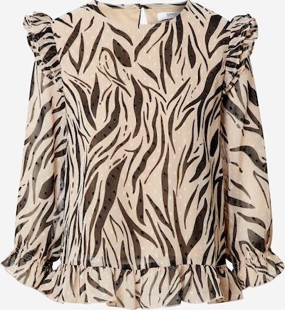 ONLY Bluse 'LADY' in hellbeige / schwarz, Produktansicht
