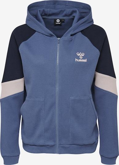 Hummel Zip hoodie in blau, Produktansicht