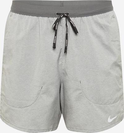 NIKE Pantalón deportivo 'Flex Stride' en gris / gris oscuro / blanco, Vista del producto