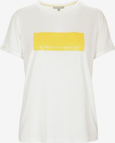 BASEFIELD T-Shirt in gelb / offwhite, Produktansicht