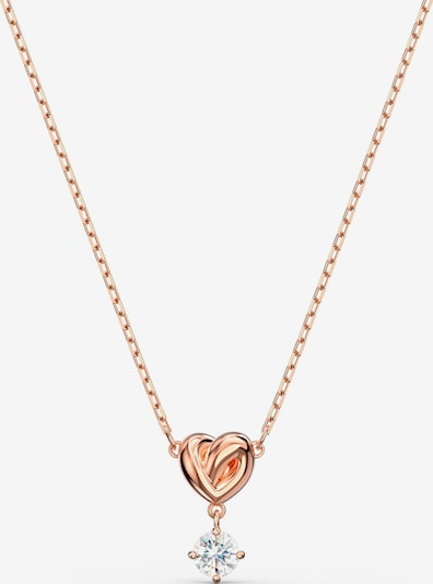 Swarovski Chaîne 'Lifelong Heart' en or rose, Vue avec produit