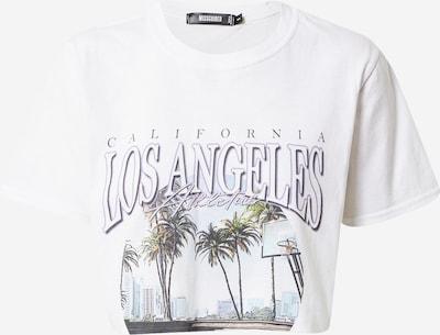Missguided Shirt 'LOS ANGELES' in mischfarben / weiß, Produktansicht