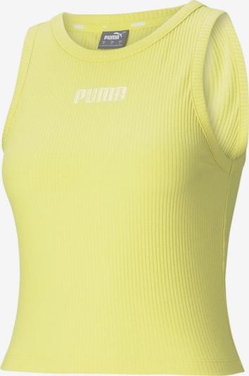 PUMA Haut de sport en citron vert / blanc, Vue avec produit