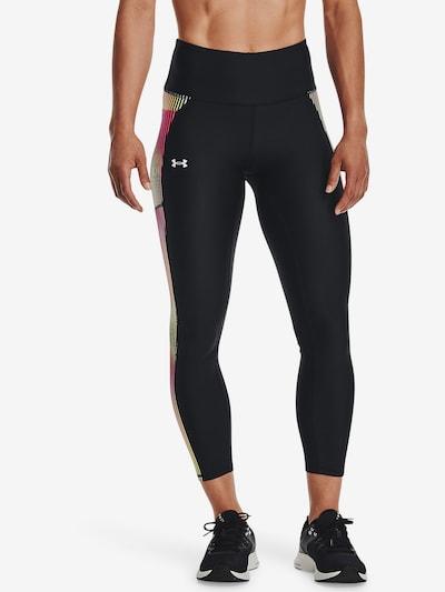UNDER ARMOUR Leggings in gelb / pink / schwarz, Modelansicht