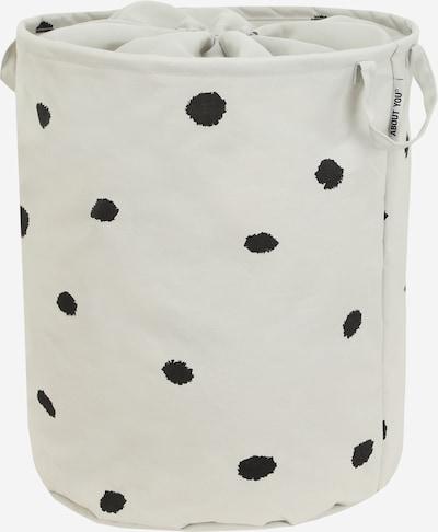 ABOUT YOU Wäschekorb 'Comfy L' in hellgrau / schwarz, Produktansicht