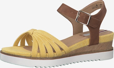 Sandale cu baretă s.Oliver pe șamoa / galben, Vizualizare produs