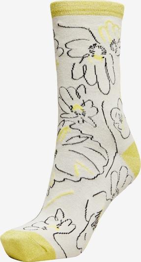 SELECTED FEMME Socken in gelb / schwarz / weiß, Produktansicht