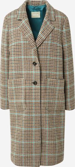 Palton de iarnă Amber & June pe turcoaz / maro deschis / grej, Vizualizare produs