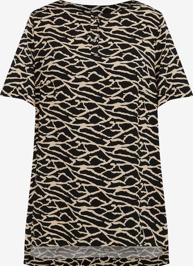 Finn Flare Kurzarm-Bluse in braun / schwarz, Produktansicht