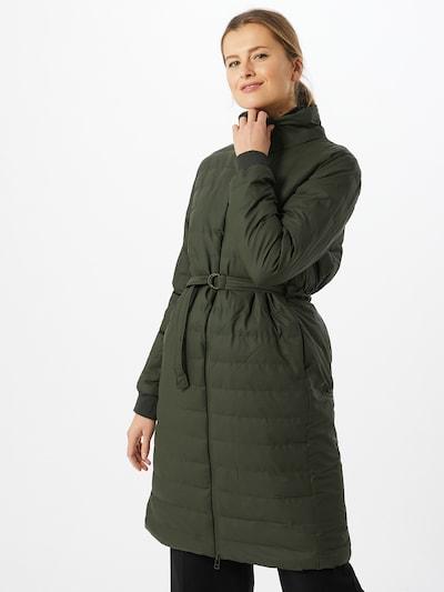 RAINS Talvemantel roheline, Modellivaade
