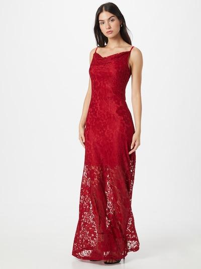 Skirt & Stiletto Kleid 'Ramona' in weinrot, Modelansicht