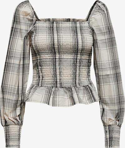 ONLY Bluse 'Elly' i beige / grå / naturhvid, Produktvisning