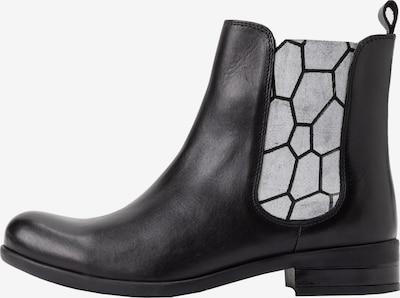 Ulla Popken Chelsea Boots in schwarz / weiß, Produktansicht