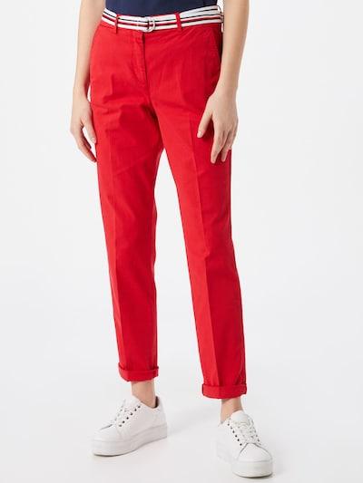 TOMMY HILFIGER Hose in rot / schwarz / weiß, Modelansicht