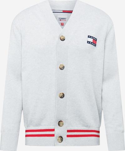 Tommy Jeans Cárdigan en marino / gris claro / rojo / blanco, Vista del producto