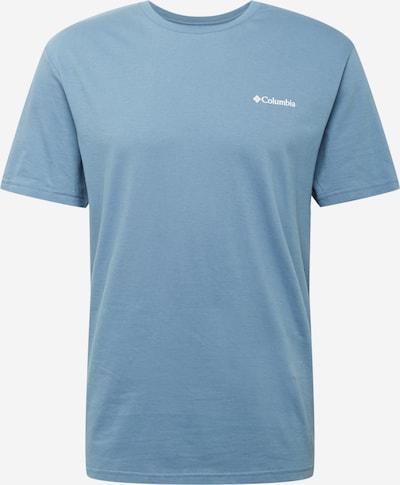 Tricou funcțional COLUMBIA pe albastru fumuriu / albastru închis / alb, Vizualizare produs