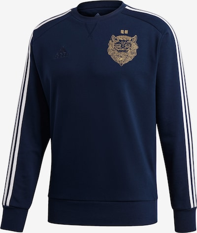 ADIDAS PERFORMANCE Sweatshirt in nachtblau / gold / weiß, Produktansicht
