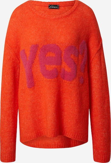 Grace Oversized sweater 'YES' in Pink / Orange red, Item view