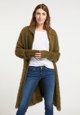 Manteau en tricot usha FESTIVAL en vert