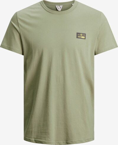JACK & JONES T-Shirt in gelb / jade / schwarz, Produktansicht