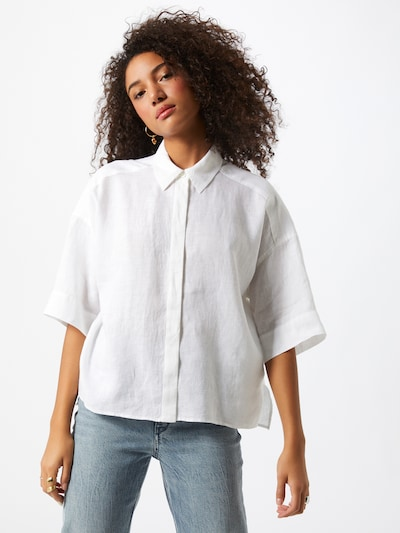 DRYKORN Bluse 'Therry' in weiß, Modelansicht