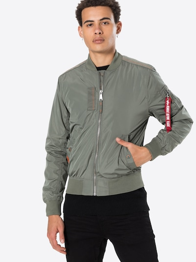 ALPHA INDUSTRIES Prehodna jakna 'MA-1 Parachute'   zelena barva: Frontalni pogled
