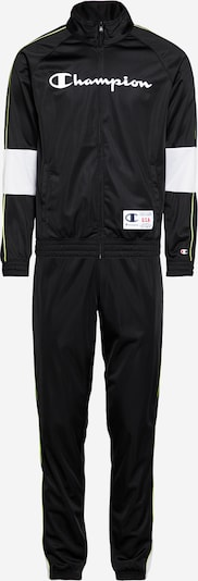 Champion Authentic Athletic Apparel Survêtements 'Tracksuit' en noir / blanc, Vue avec produit