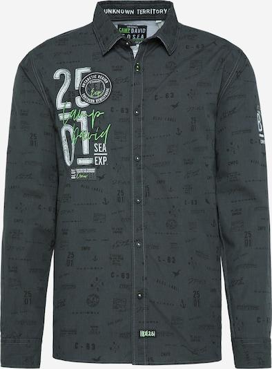 CAMP DAVID Freizeithemd mit All Over Print in schwarz, Produktansicht