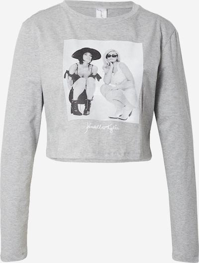 KENDALL + KYLIE Majica | pegasto siva / črna / bela barva, Prikaz izdelka