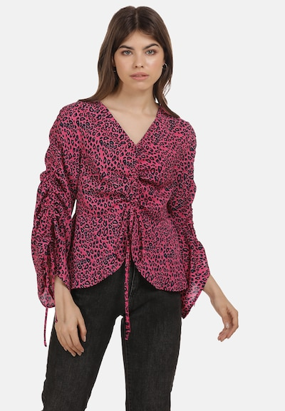 MYMO Blouse in Neon pink / Black, View model