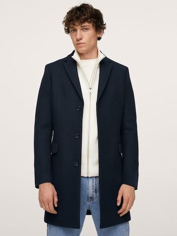 MANGO MAN Преходно палто 'ARIZONA' в синьо