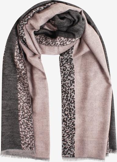 SAMAYA Modeschal 'MILLIS' in grau / rosa, Produktansicht