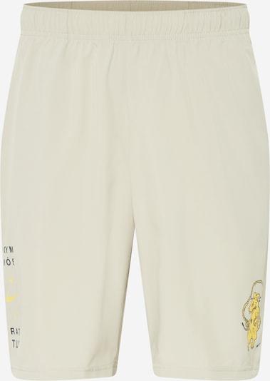 NIKE Pantalon de sport en beige / jaune / noir, Vue avec produit